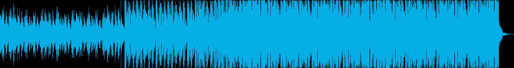 チルアウト軽快爽やかなトロピカルハウスfの再生済みの波形