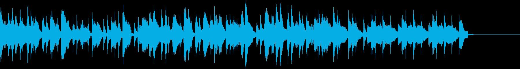 アップライトピアノのトロピカルナンバーの再生済みの波形