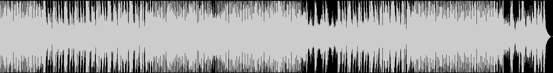 ピアノが爽やかで明るいポップなBGMの未再生の波形