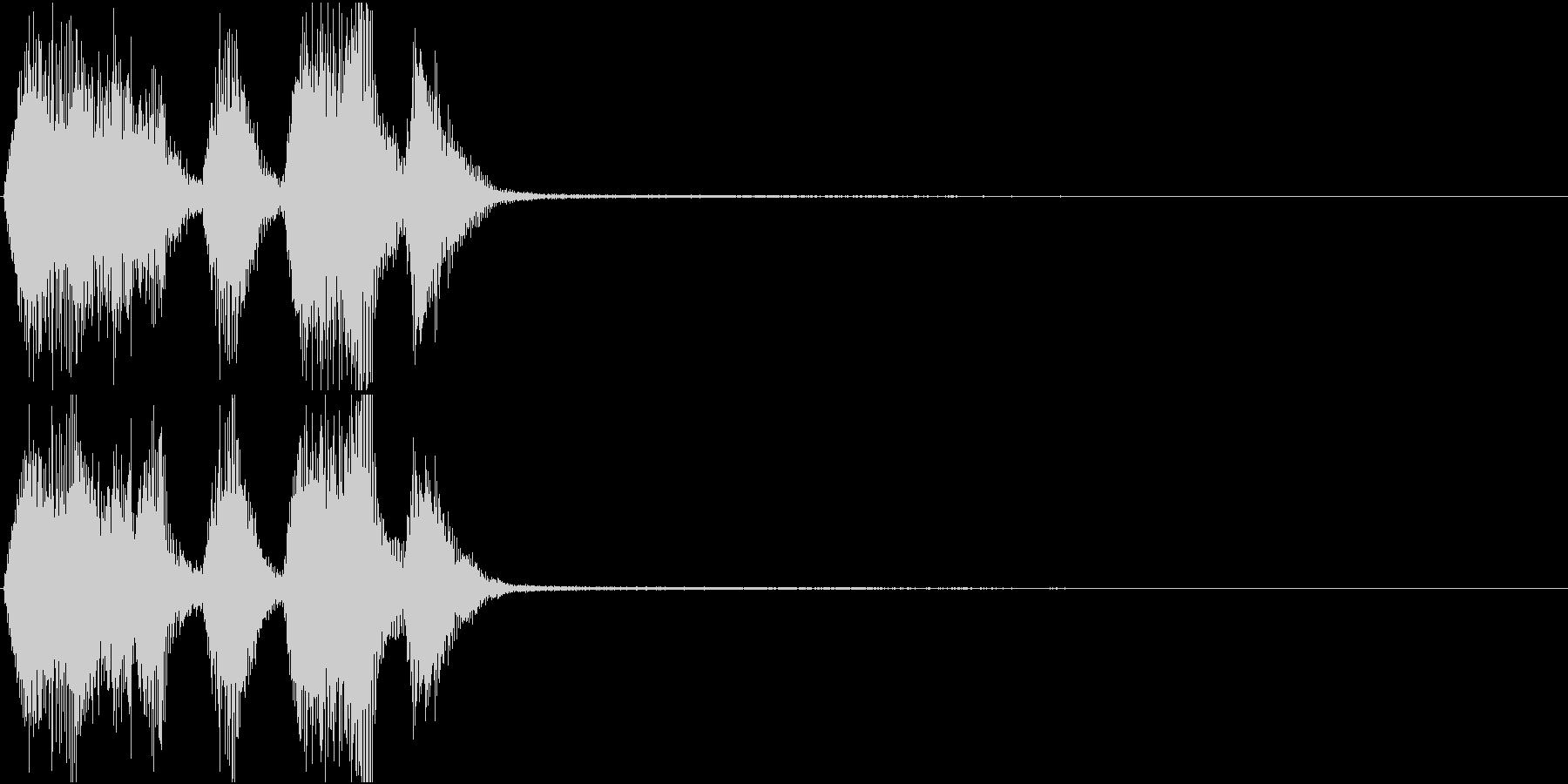 トランペット ファンファーレ 定番 18の未再生の波形