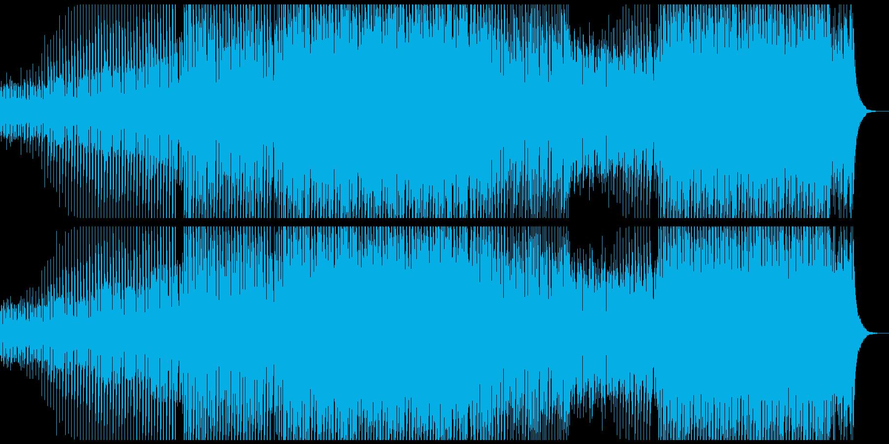 パワーダンスミュージックの再生済みの波形