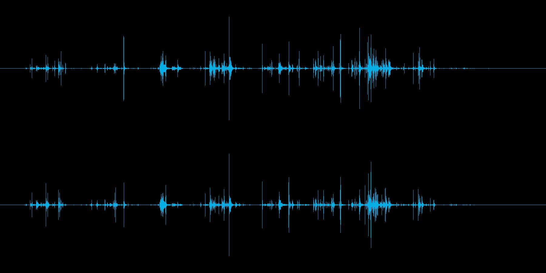 チャポチャポ(水を優しくかき回す音)の再生済みの波形