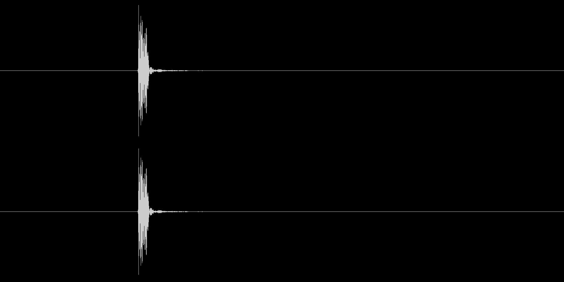 スレッジハンマーハードで地面を打つの未再生の波形