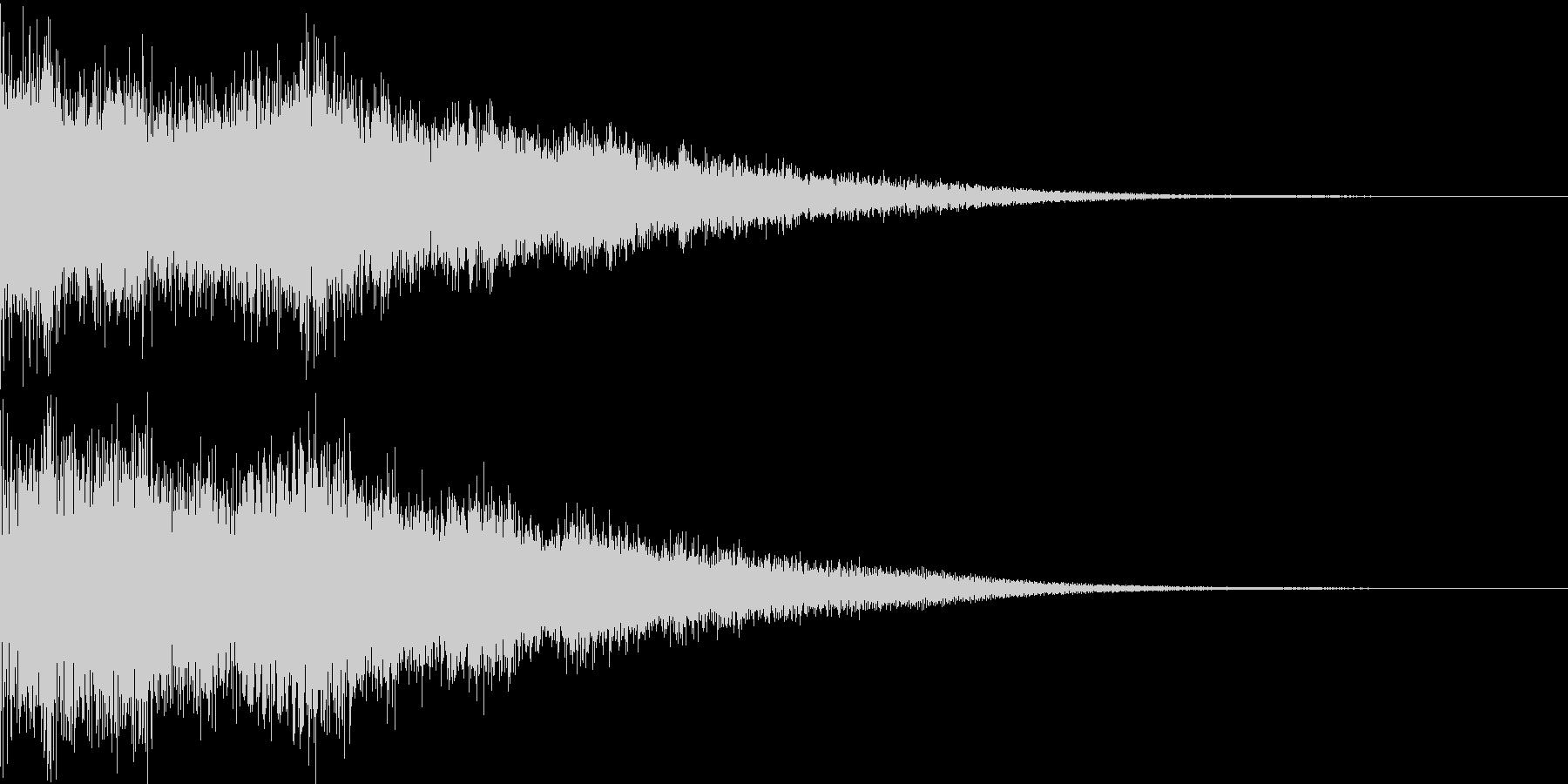 カジノスロット定番トップシンボル音6の未再生の波形