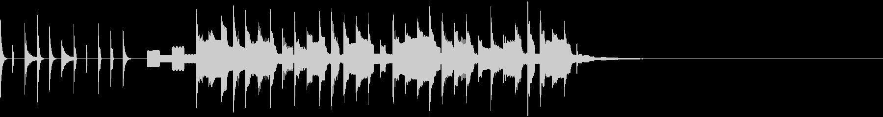 かわいい シンセテクノポップ ジングル2の未再生の波形