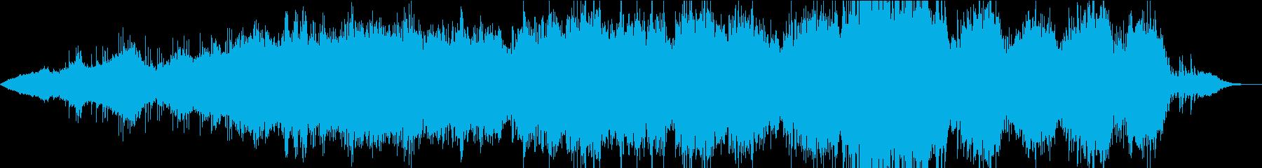 歌ありの打ち込み曲の再生済みの波形