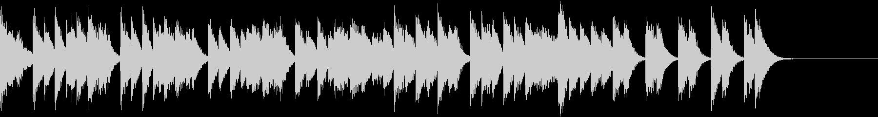 オクターブが華やかな熱いピアノジングルの未再生の波形