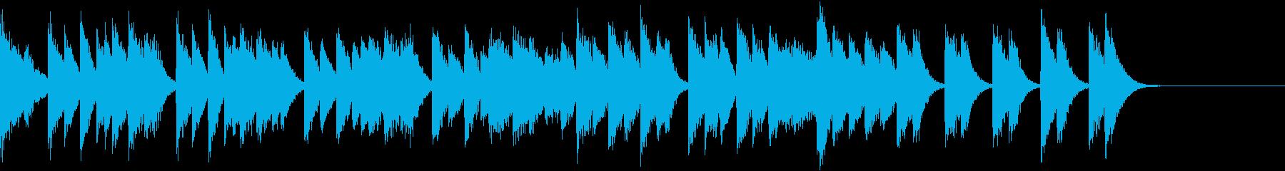 オクターブが華やかな熱いピアノジングルの再生済みの波形