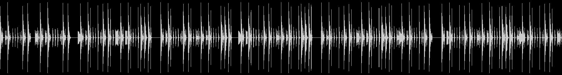 クラブテイストの無機質なドラムループの未再生の波形