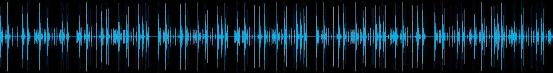 クラブテイストの無機質なドラムループの再生済みの波形
