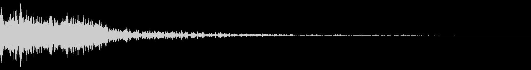 ホラー系アタック音73の未再生の波形