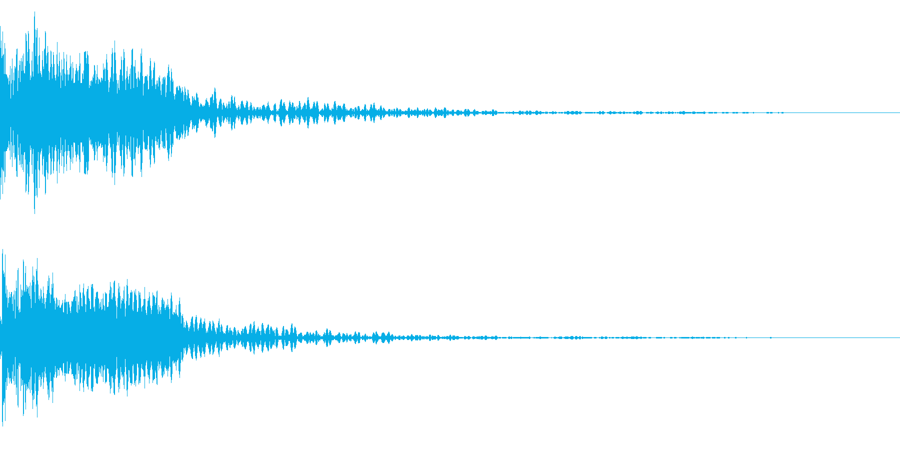 ホラー系アタック音73の再生済みの波形