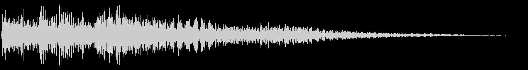 ハープの場面転換音 切り替え 転回音の未再生の波形