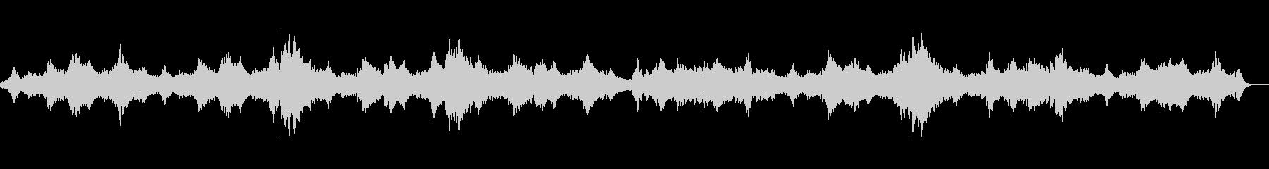 ホラー系のBGMの未再生の波形