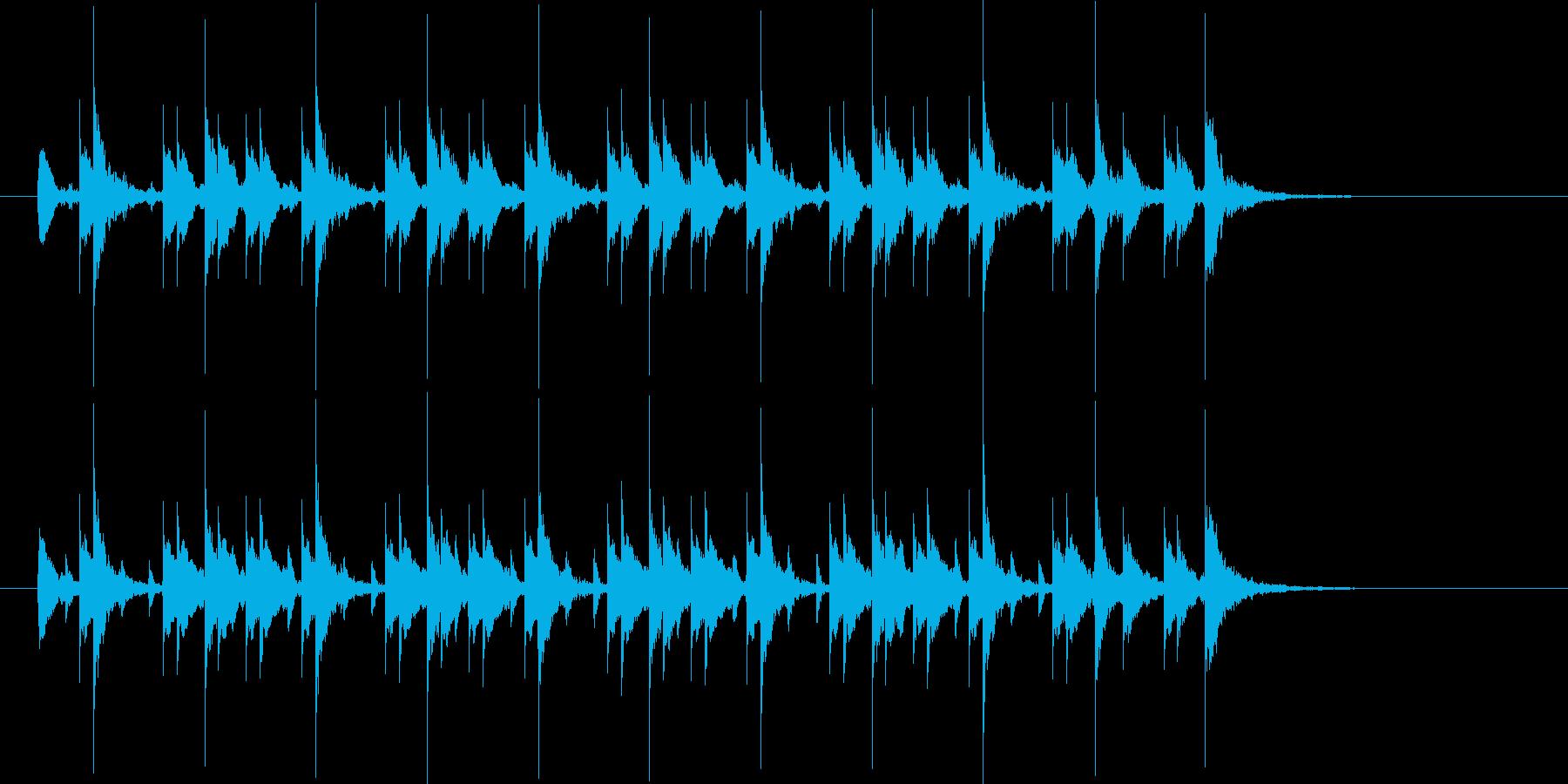 軽快なドラムによるクールなジングルの再生済みの波形