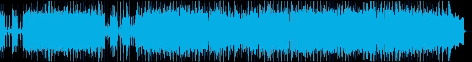 アップテンポで軽快なロック楽曲の再生済みの波形