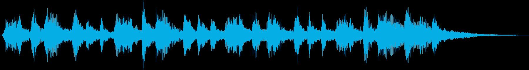 自然をイメージした神秘的なジングルの再生済みの波形