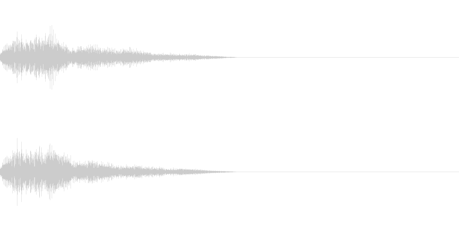 テロップの音・決定音・ダラーンの未再生の波形