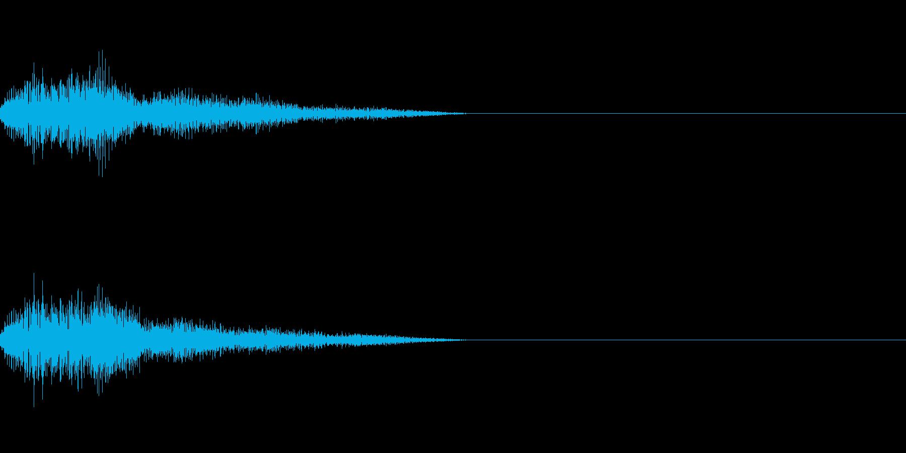 テロップの音・決定音・ダラーンの再生済みの波形