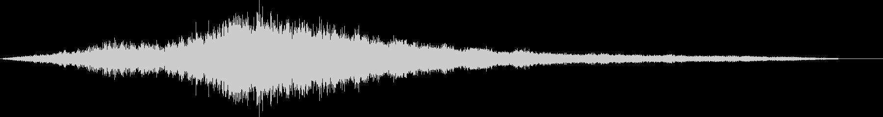 ライドシンバルのロールの未再生の波形
