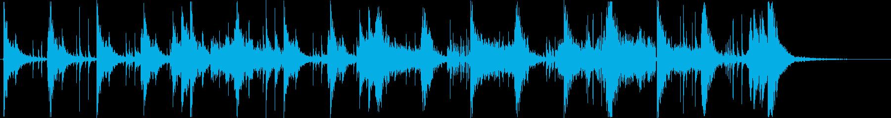 ギターと打楽器の緊迫感のあるスロー曲ですの再生済みの波形