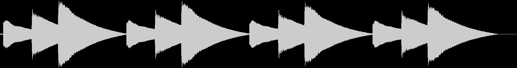 ピロリン(玄関のチャイムが鳴る音)の未再生の波形