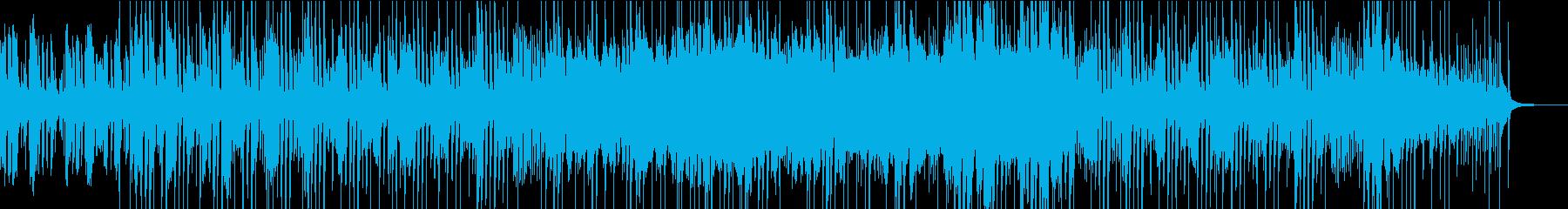 ギターのカッティングが特徴的なロック曲の再生済みの波形