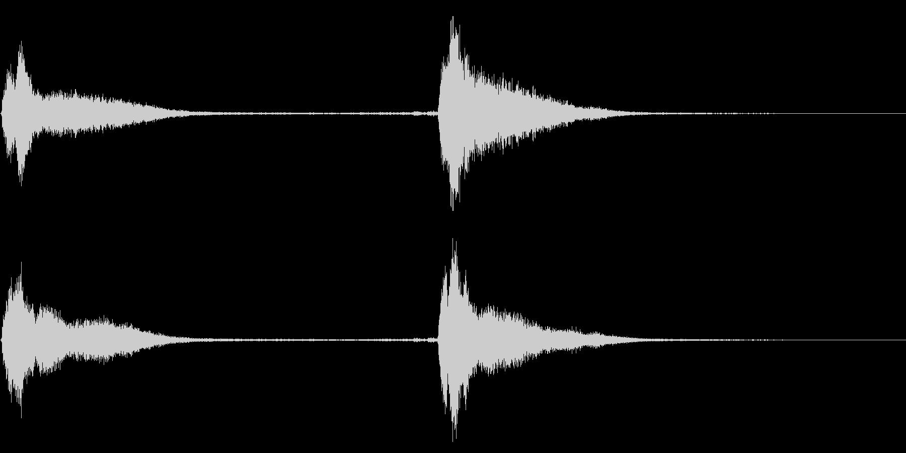 レプトン教会の鐘:2つのリングの未再生の波形