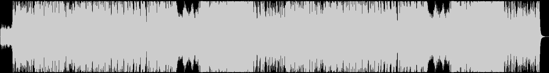 激しいオーケストラ調のバトルBGMの未再生の波形