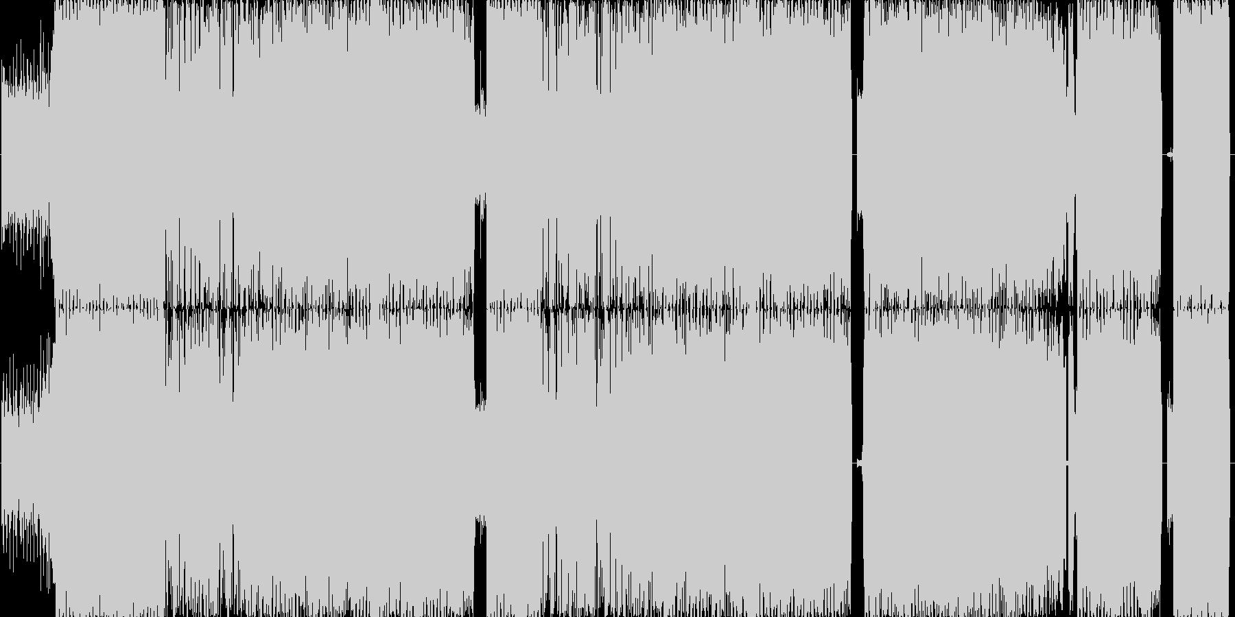 サイケデリックEDMロック疾走感の未再生の波形