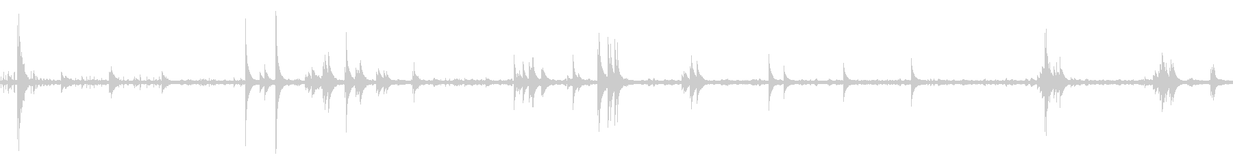 風鈴と鳥と虫の音 05【夕方】ループの未再生の波形