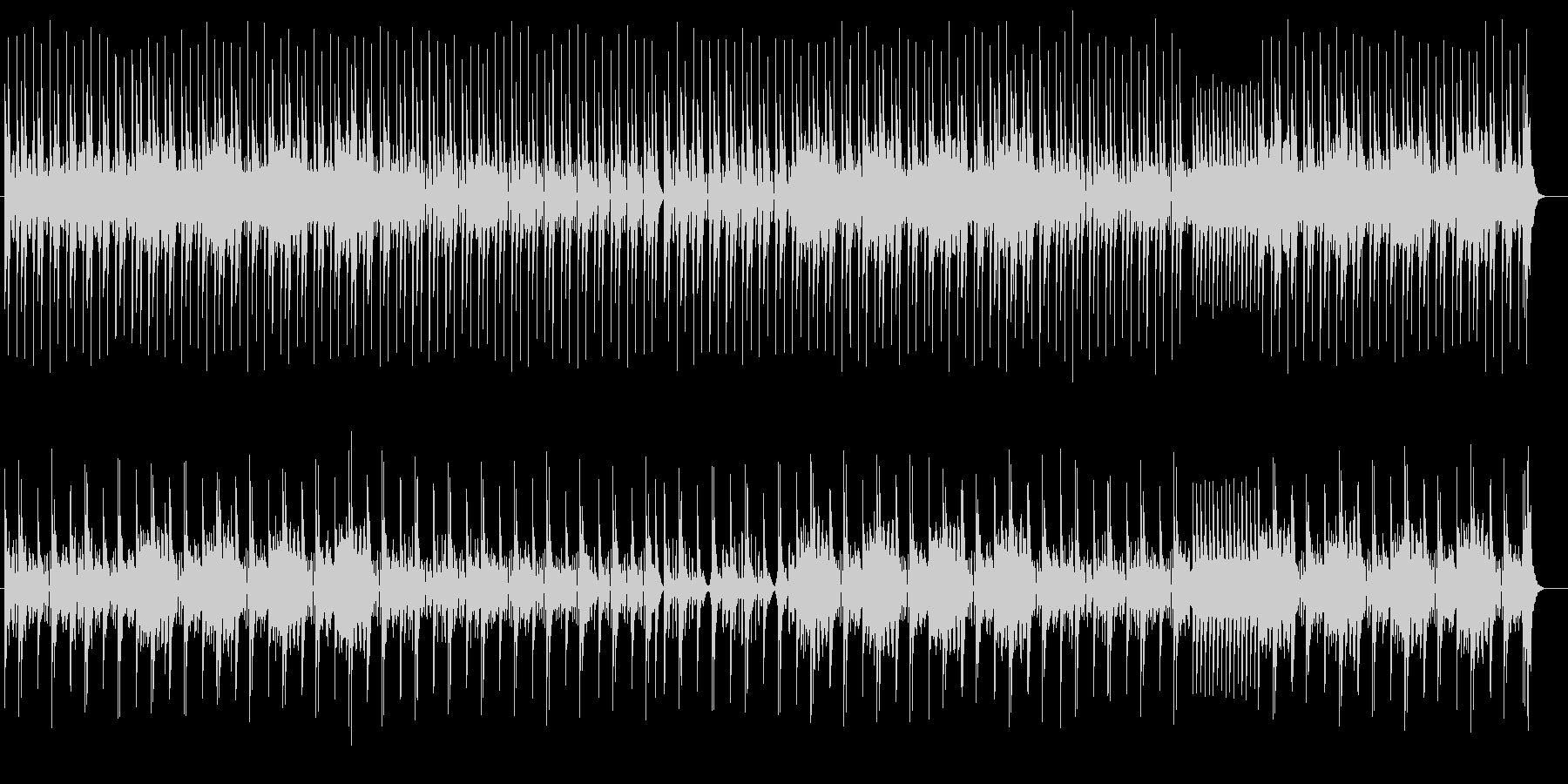 躍動感あるリズムの電子音の未再生の波形
