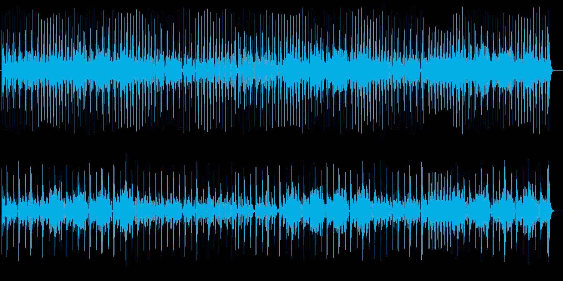 躍動感あるリズムの電子音の再生済みの波形