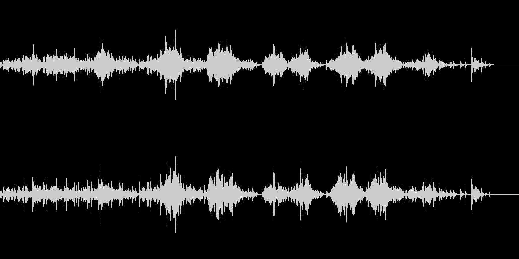 一つのモチーフに異なるハーモニーピアノ曲の未再生の波形