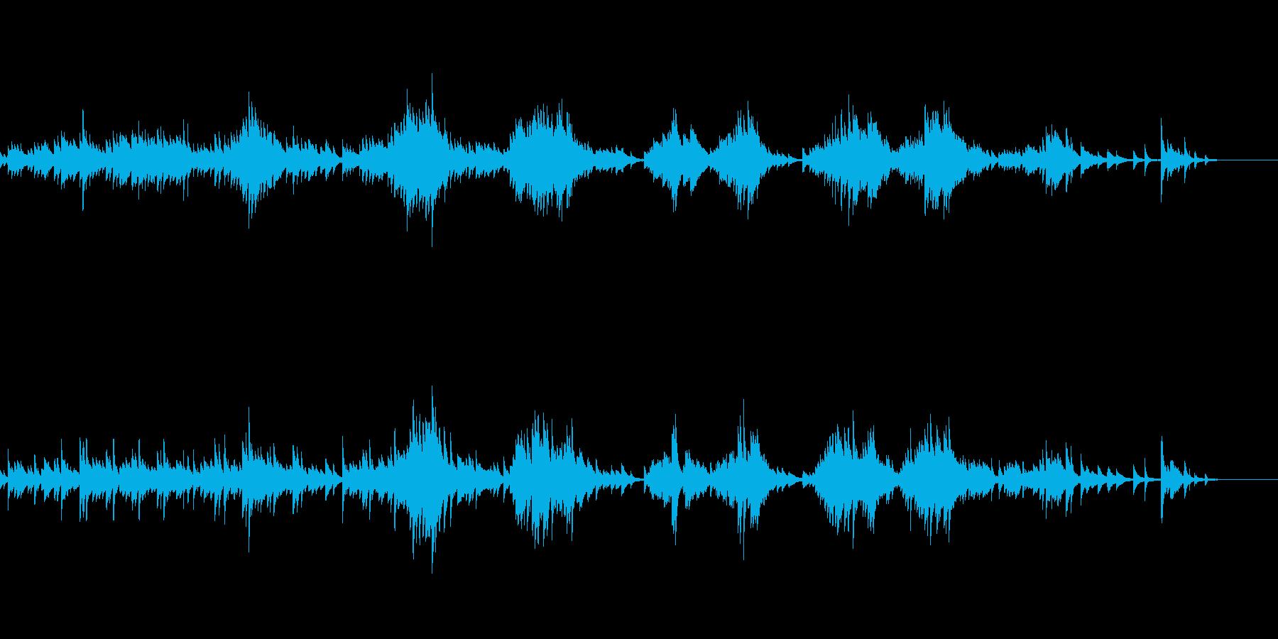 一つのモチーフに異なるハーモニーピアノ曲の再生済みの波形