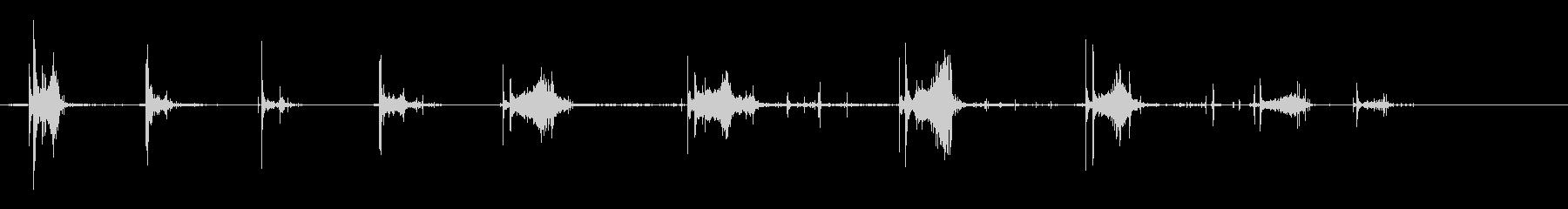 ストーン-ロック-スローインザウォーターの未再生の波形