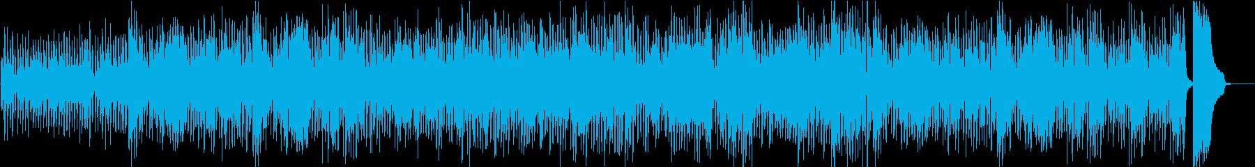 トランペットとサックスの軽快なブルースの再生済みの波形
