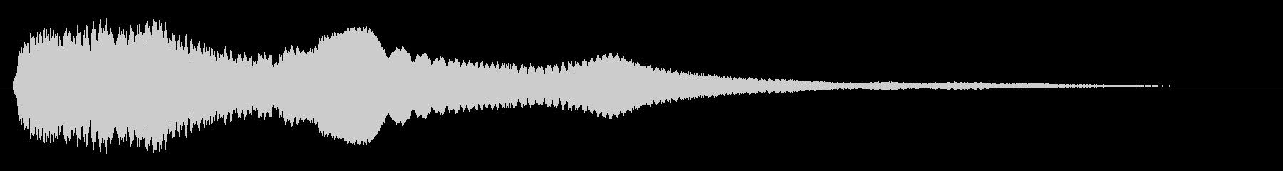 透き通るような癒しの音色の未再生の波形