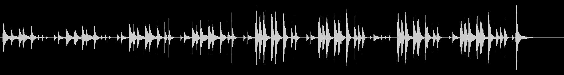 ゆるーい日常シーンで流れてそうなBGMの未再生の波形