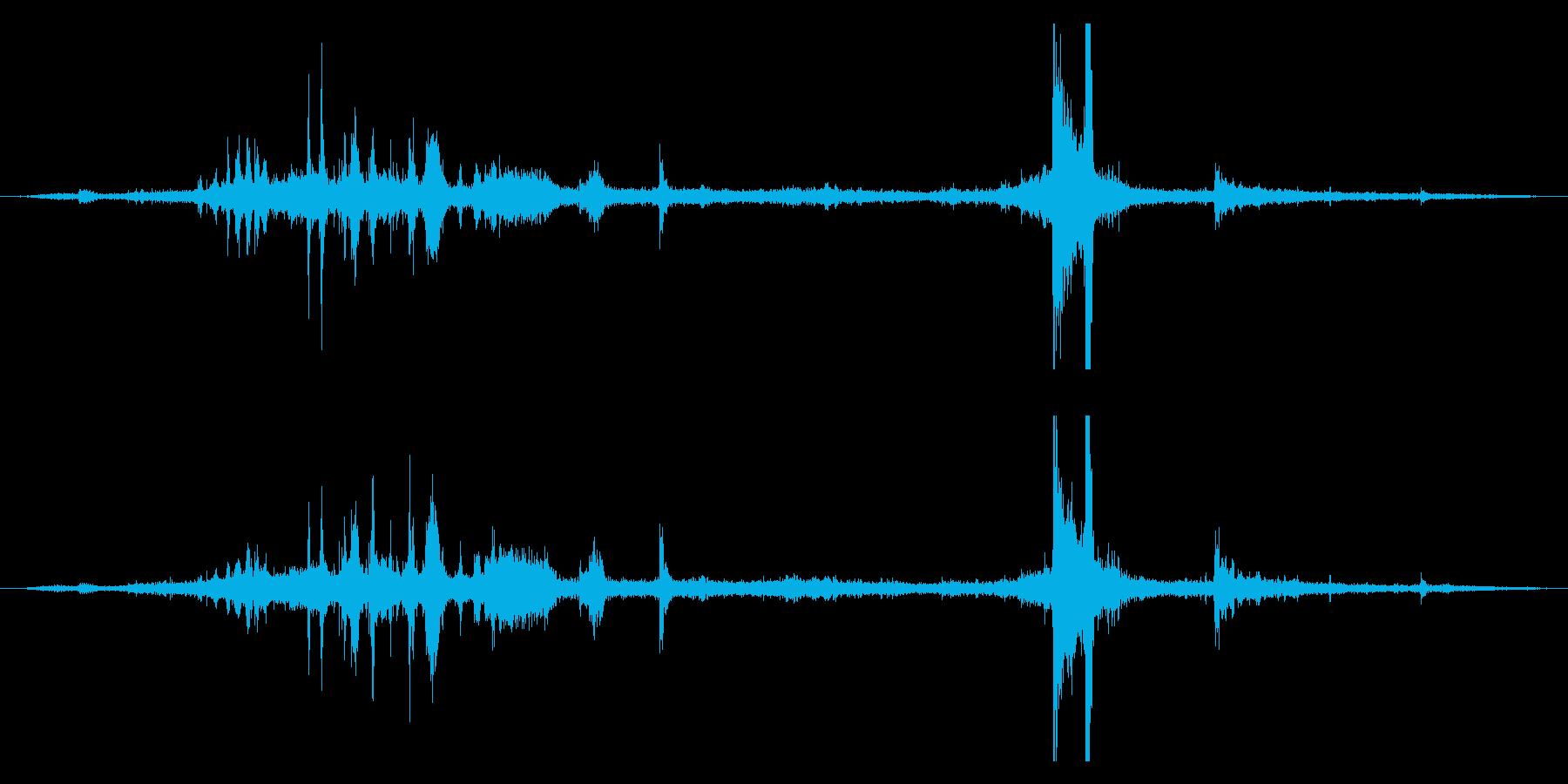 シャッ!アイススケートすべる効果音!11の再生済みの波形