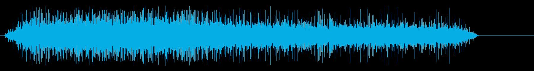 録音、料理、強火で油がジュージューする音の再生済みの波形