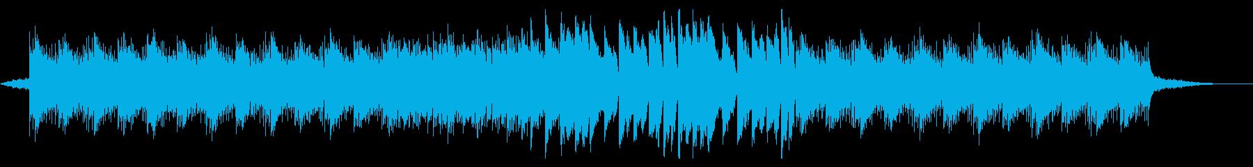 幻想的で疾走感のあるピアノ曲の再生済みの波形