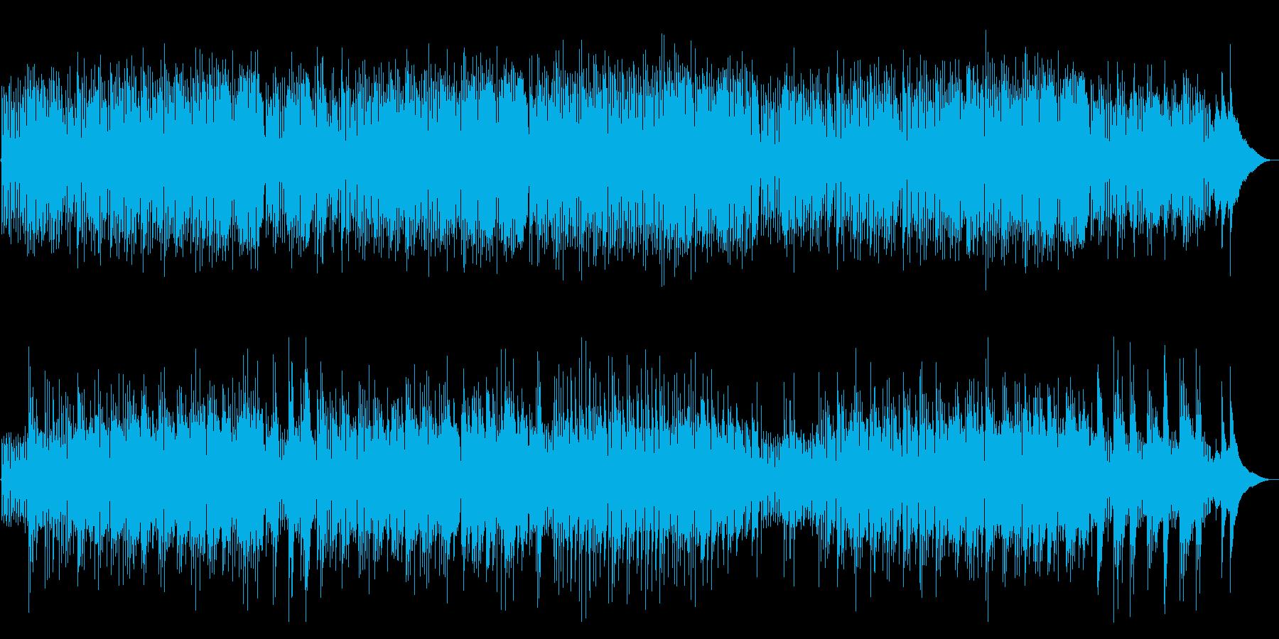 カフェ系生演奏アコースティックギター企業の再生済みの波形