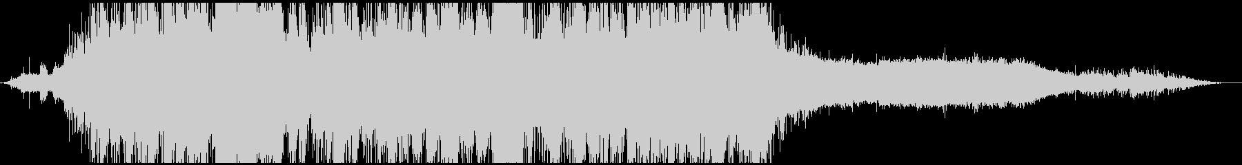 雄大な滝、プリミティブ、左右に駆け巡る音の未再生の波形