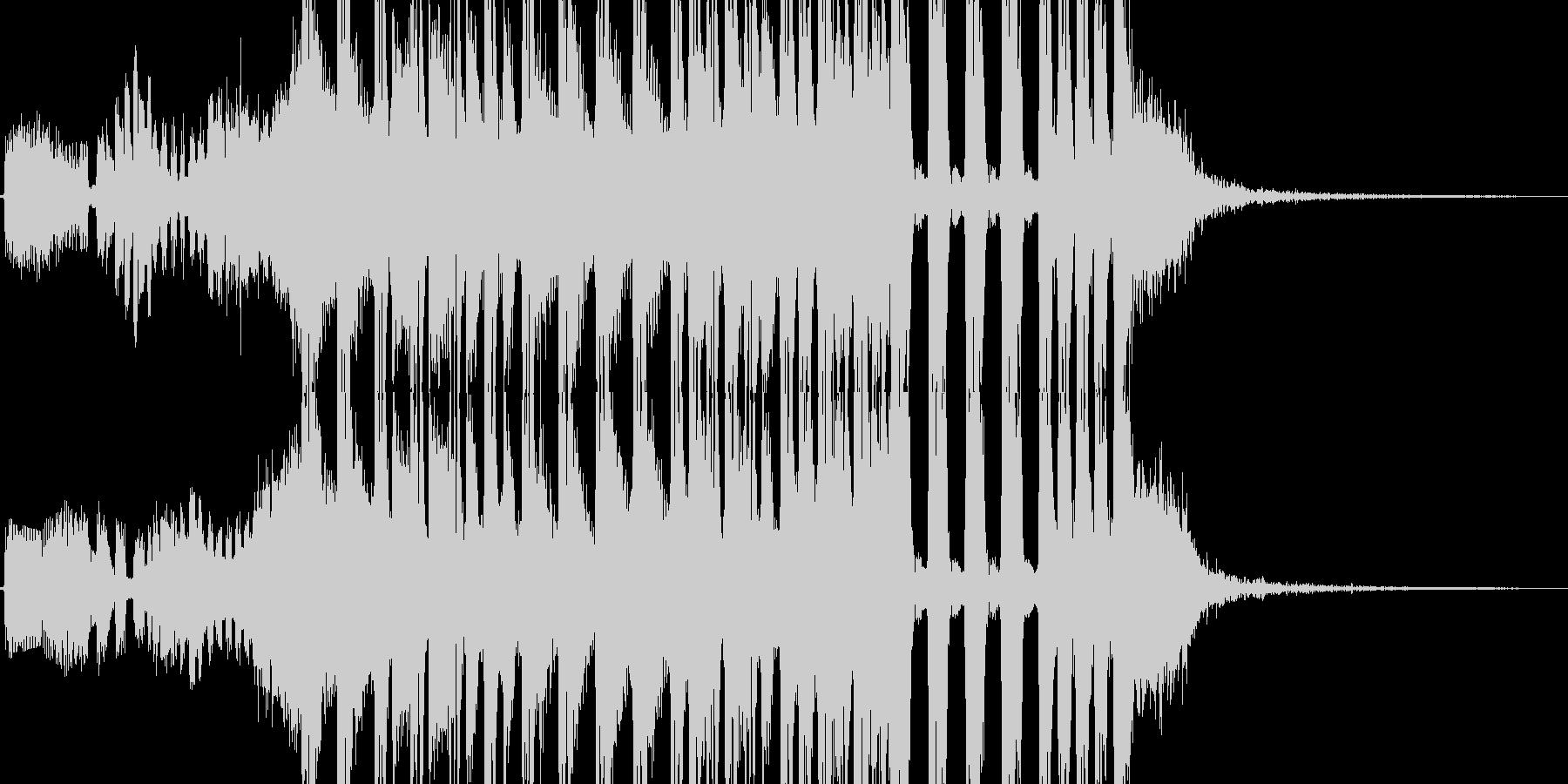 駆け足、徒競走イメージのテクノジングルの未再生の波形