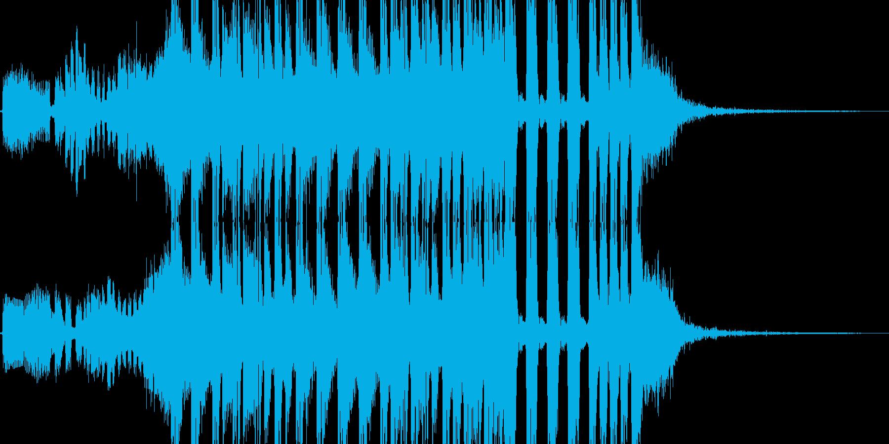 駆け足、徒競走イメージのテクノジングルの再生済みの波形