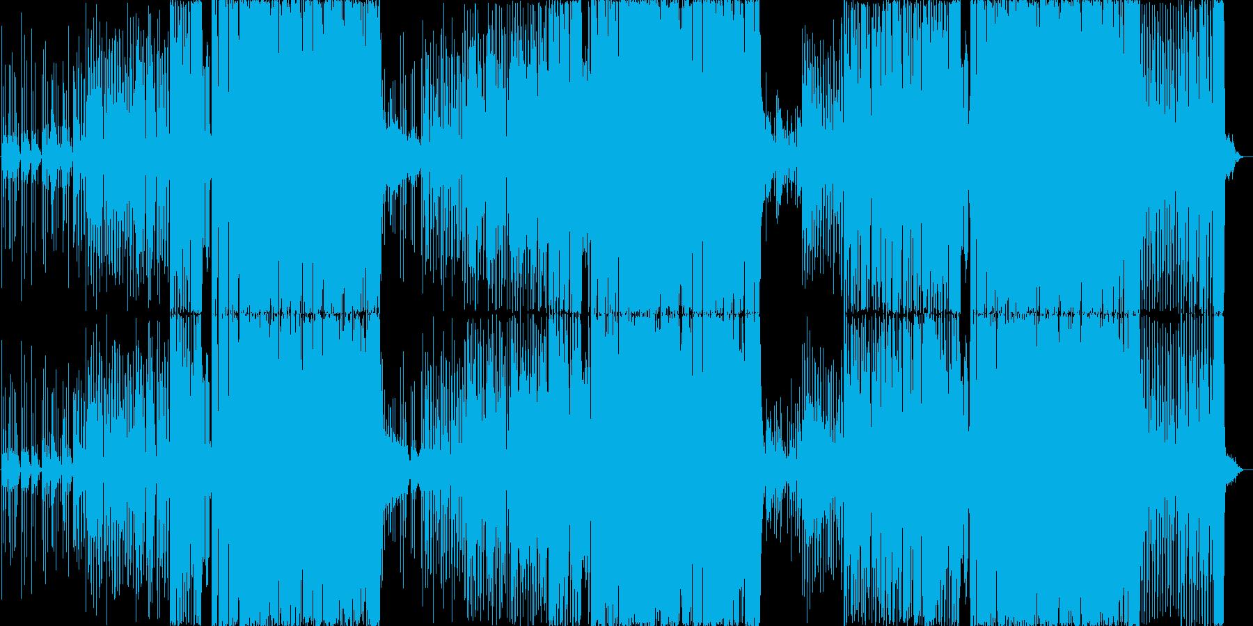 ビート感のある力強い曲の再生済みの波形