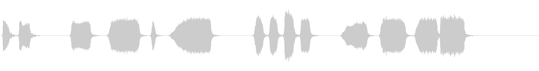 エアホイッスルアンティーク4をトレ...の未再生の波形