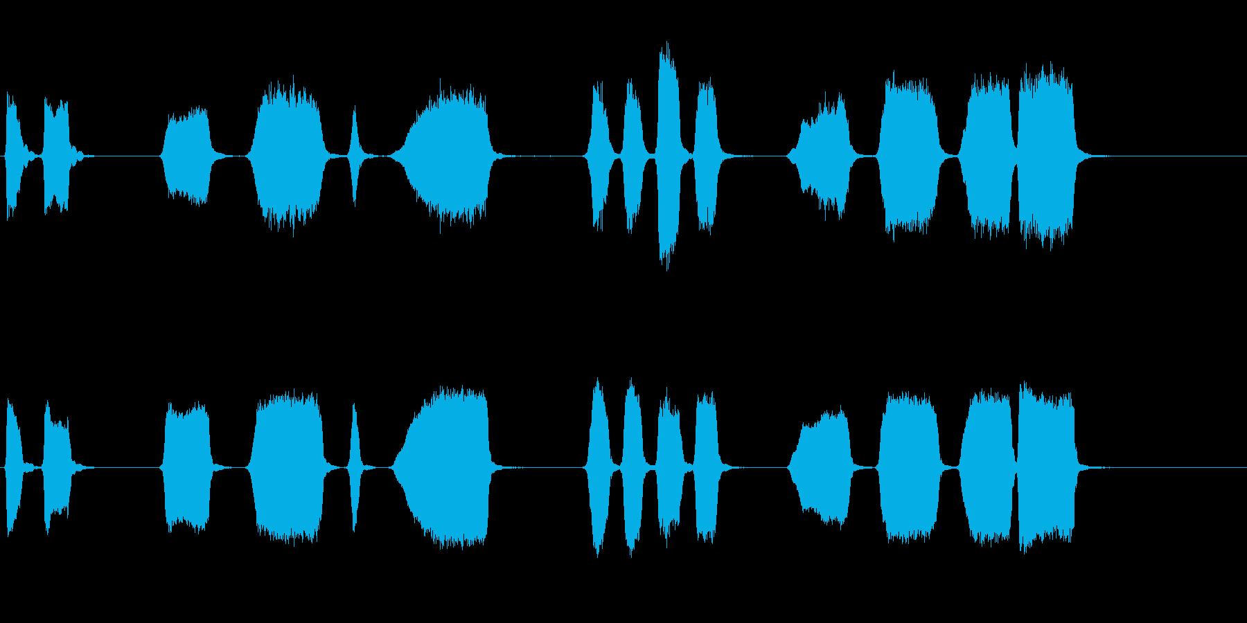エアホイッスルアンティーク4をトレ...の再生済みの波形