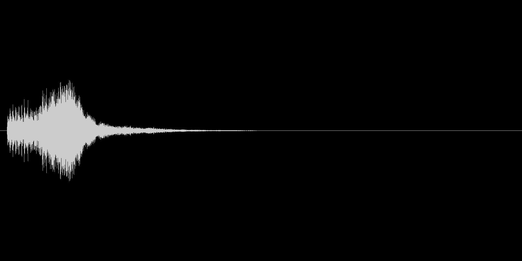 パズルゲームの連鎖における2段階目の音の未再生の波形